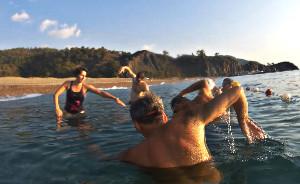 Výuka plavání na volné vodě